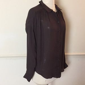 EVER 100% Silk brown blouse Oversized